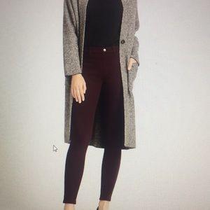 UNI QLO maroon leggings pants